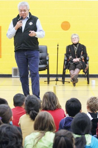 Roy and Judy at Wetaskiwin school